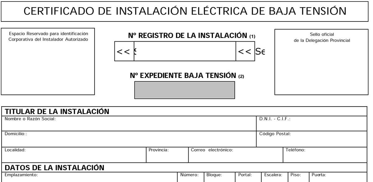 Cambiar instalacion electrica precio free fabulous good cambiar instalacion electrica - Ejemplo certificado energetico piso ...