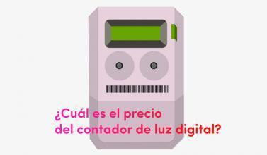 ¿Cuál es el precio del contador de luz digital?