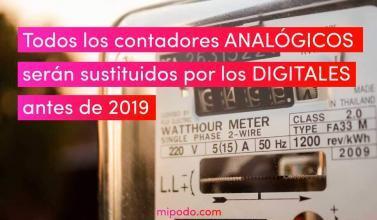 Contadores analógicos y su sustitución por digitales