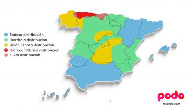 Mapa de empresas distribuidoras
