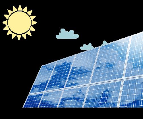 Placas solares generando energía fotovoltaica - Podo