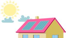 Paneles solares captando energía - Podo